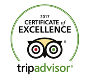 Bilderesultat for certificate of excellence tripadvisor 2017